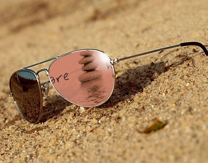 Occhiali sabbia