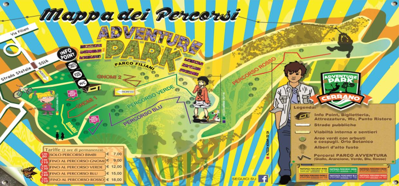 mappa parco avventura cerrano